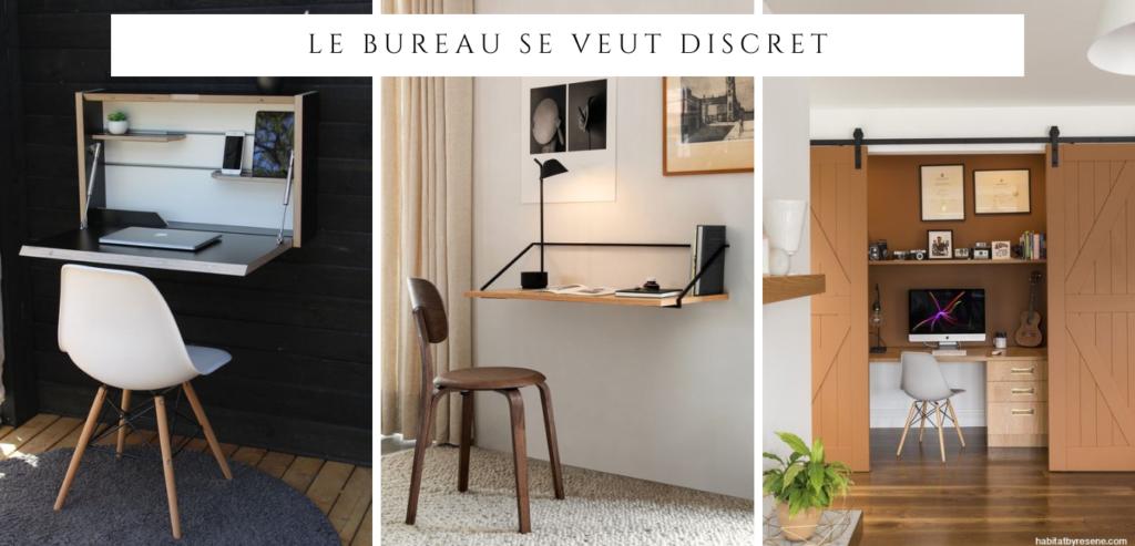 Un bureau invisible, une belle idée à adopter chez soi