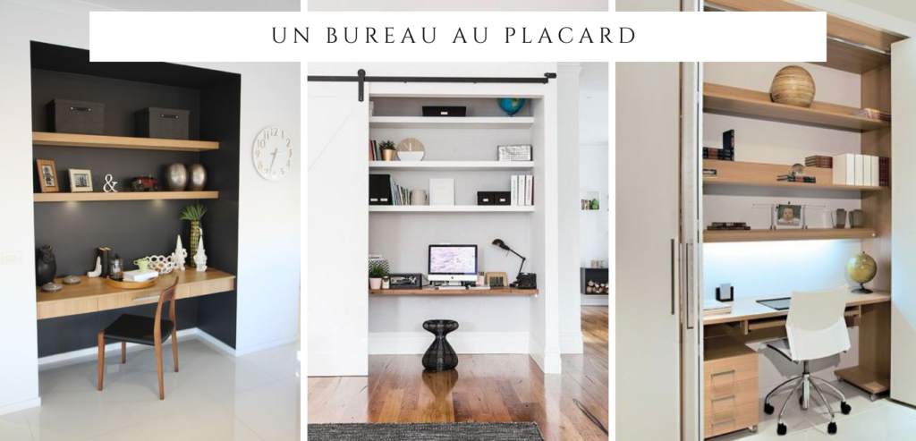 un bureau invisible : idée 3 : un bureau au placard