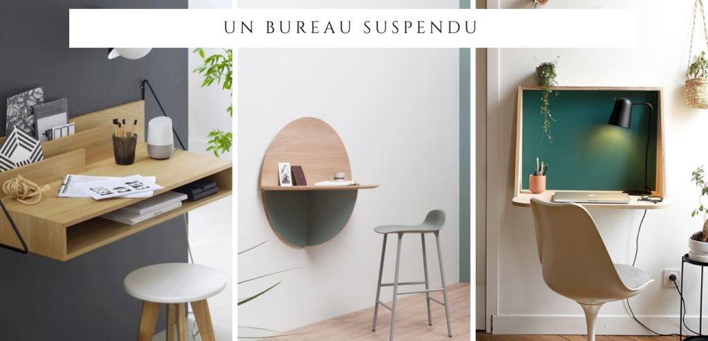 Un bureau invisible : idée 2 un bureau suspendu