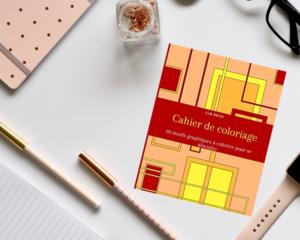 Cahier de coloriage motif abstrait