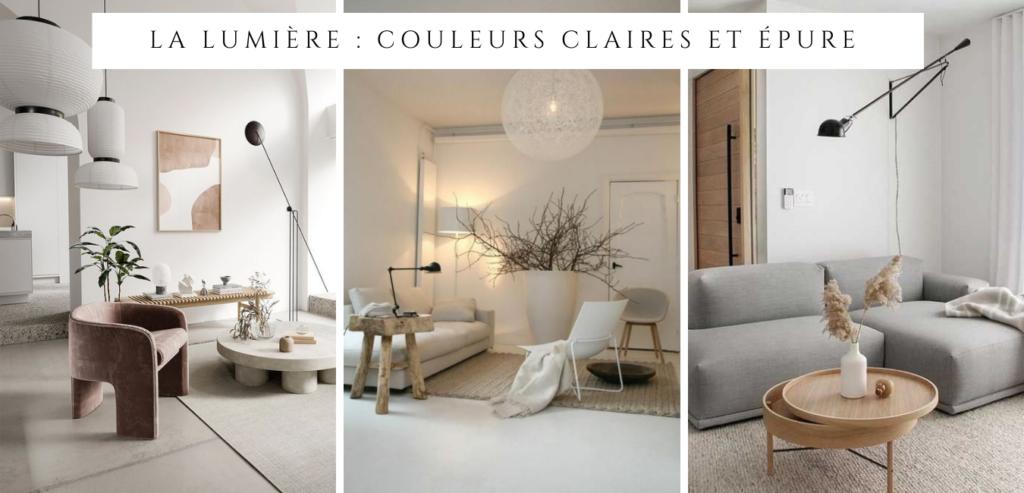 Le style minimaliste : la lumière