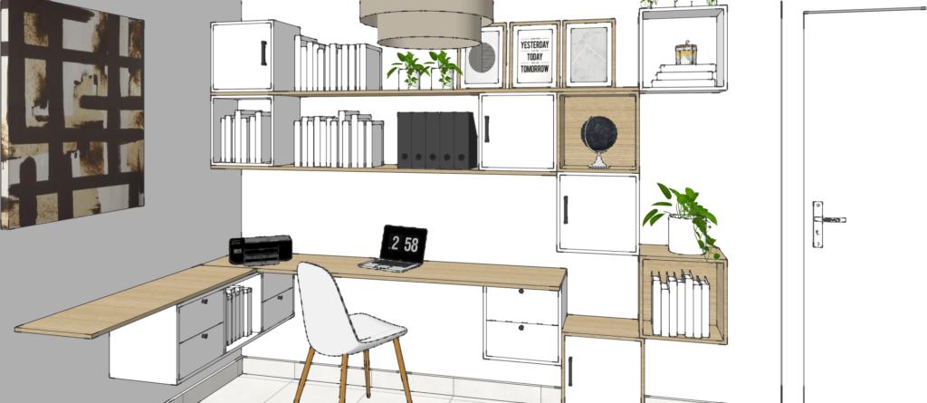 design d'un bureau sur mesure