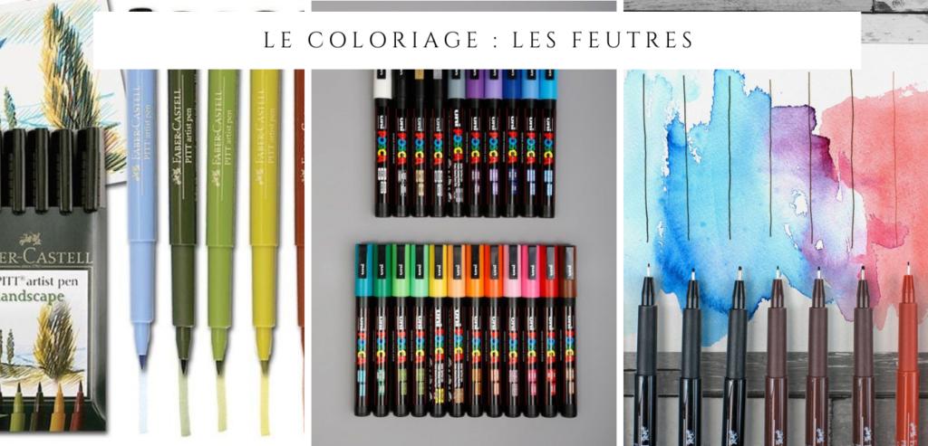 Le matériel de coloriage